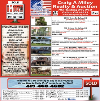 Upcoming Auctions 2019