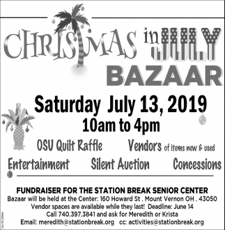 Fundraiser for the Station Break Senior Center