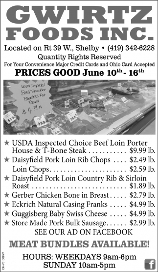 Prices Good May June 10th - Jun 16th