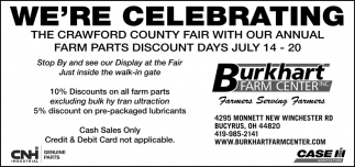 The Crawford County Fair With our Annual Farm Parts Discount