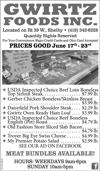 Prices Good May June 17th - Jun 23rd