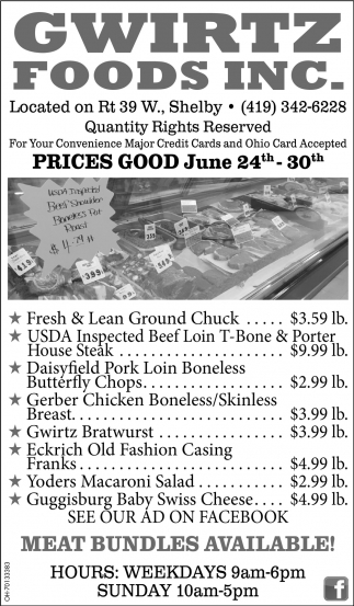 Prices Good May June 124th - Jun 30rd